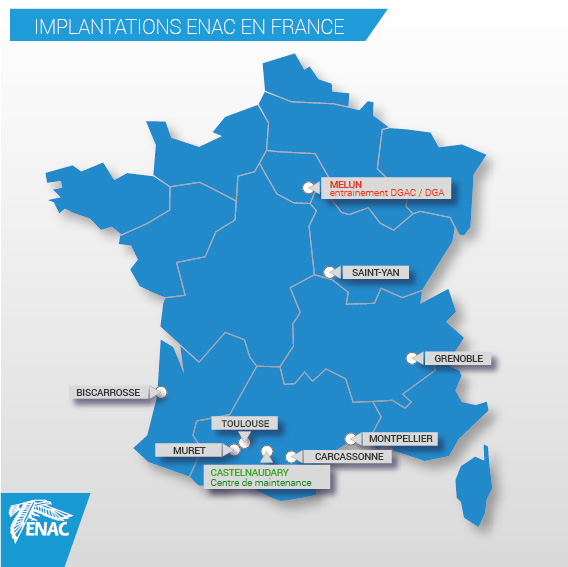 Implantations Centres ENAC