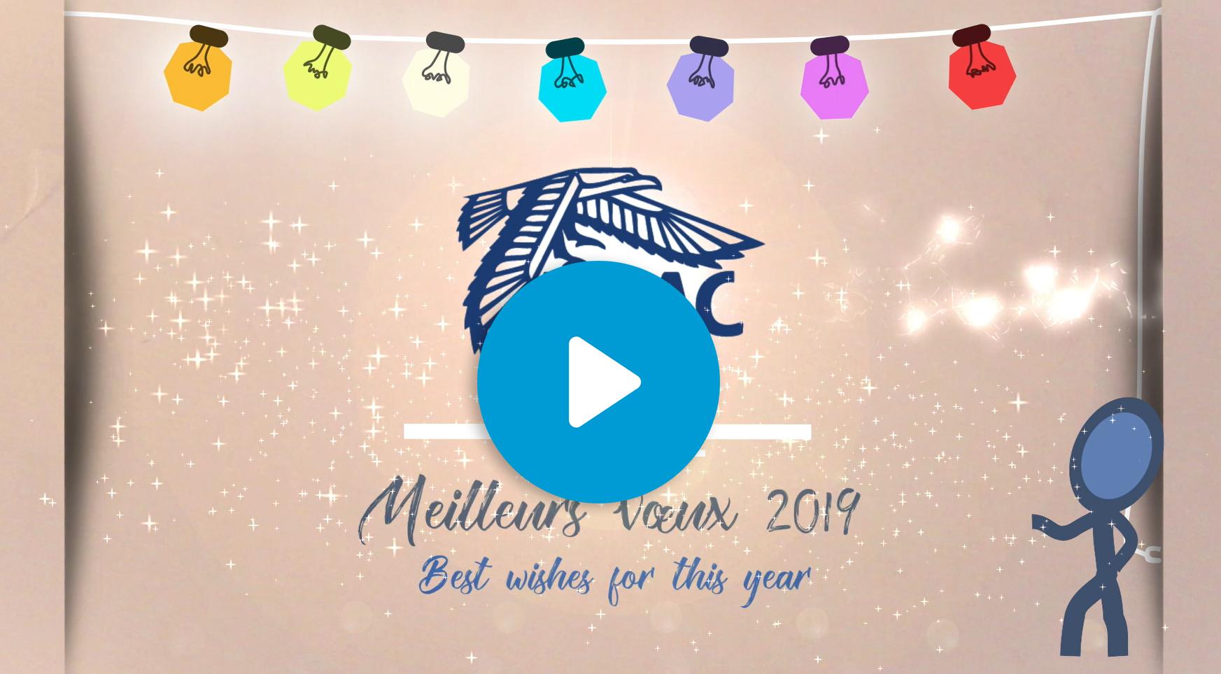 Les élèves, le directeur général et le personnel de L'ENAC vous souhaitent une excellente année 2019 !