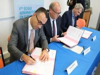 Signature d'un partenariat entre l'ENAC et Air France
